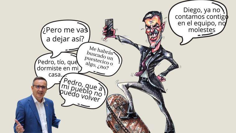 Última viñeta de Marga Estrada sobre Diego Conesa