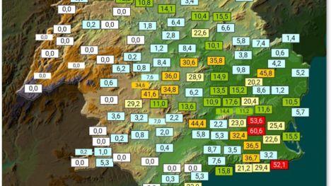 La lluvia deja más de 44 litros acumulados en Alhama