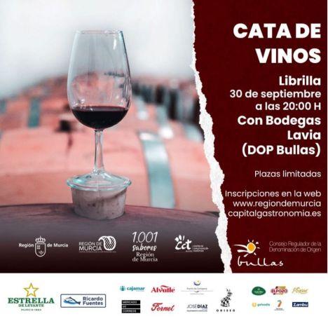 Librilla acoge el próximo jueves día 30 una cata de vinos