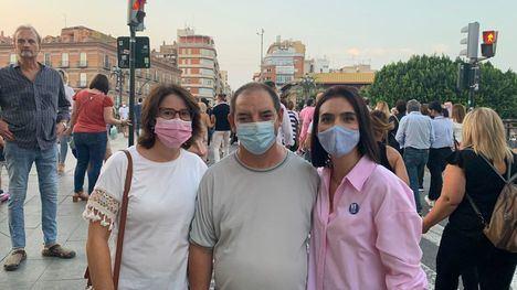 Cs, IU y PP, juntos en la manifestación por el tren de Cercanías