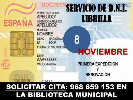 Nueva cita para renovar o solicitar por primera vez el DNI en Librilla