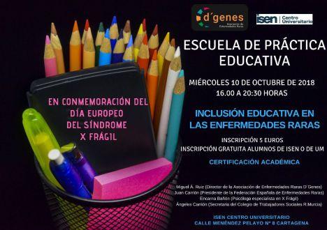 D'Genes conmemora con ISEN el Día Europeo del Síndrome X Frágil
