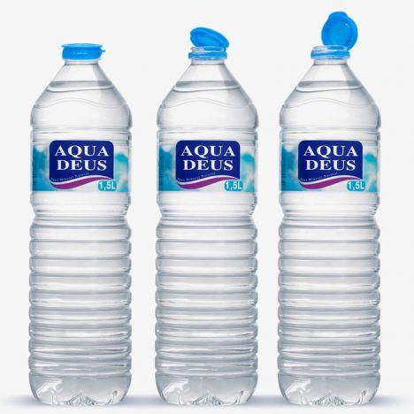 El formato de 1,5 litros de Aquadeus con tapón solidario.