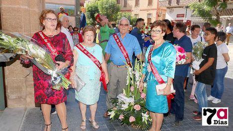 VÍDEO y FOTOS Emotiva ofrenda floral y misa a la Patrona de Alhama