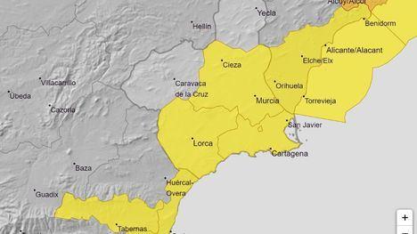 Activan la alerta amarilla por lluvias este viernes