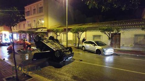 FOTOS Un herido en accidente de tráfico en la avenida de Cartagena