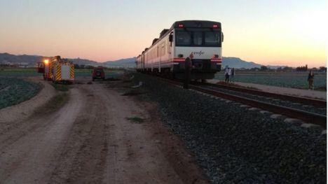 Muere atropellada por el tren entre Lorca y Puerto Lumbreras