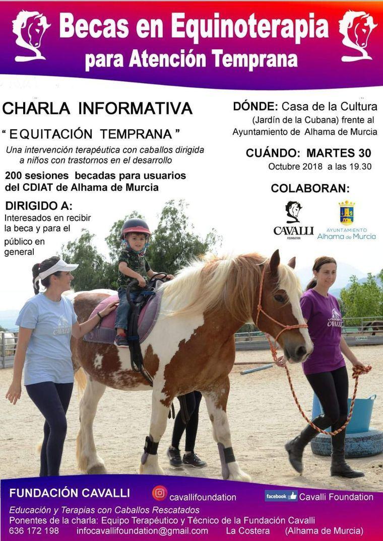Becas para terapia con caballos destinadas a niños del CDIAT