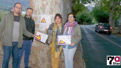 VÍDEO Podemos critica el mal estado de la carretera a Gebas
