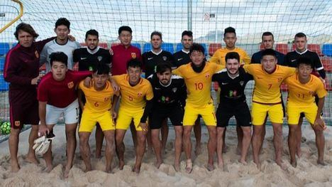 La Selección China de Fútbol Playa se prepara y entrena en Mazarrón