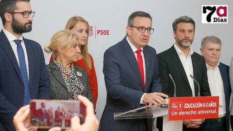 El PSOE apuesta por el derecho a la educación de niños de 0 a 3 años