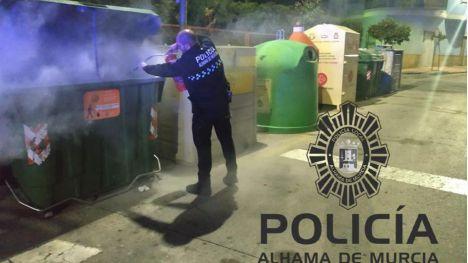 Conato de incendio en un contenedor en la calle Santa Bárbara
