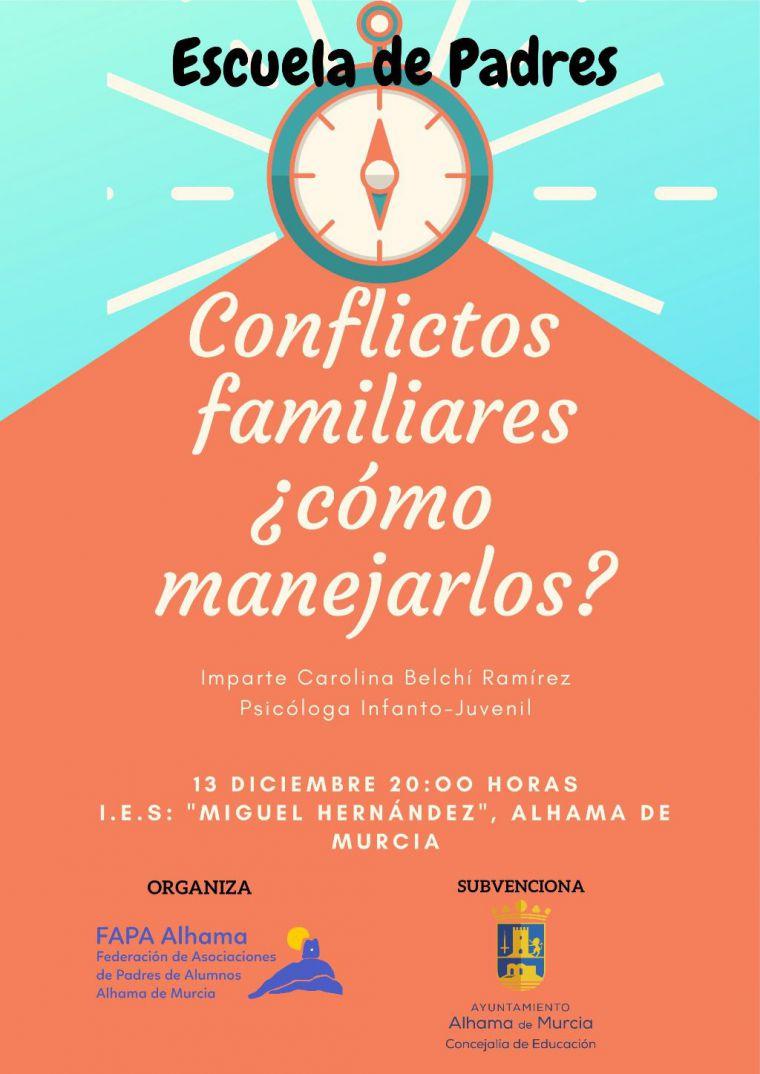 Conflictos familiares, próxima asignatura de la Escuela de Padres
