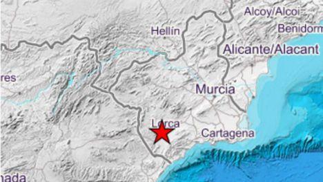Lorca sufre un seísmo de 3,4 grados sin daños reseñables por ahora