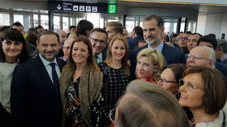 Alhama, en la histórica inauguración del aeropuerto de Corvera