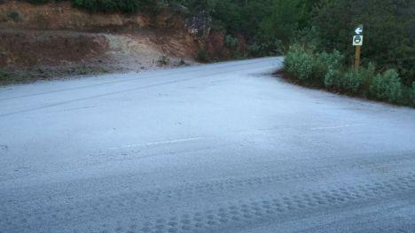 Alerta por escarcha y placas de hielo en Sierra Espuña