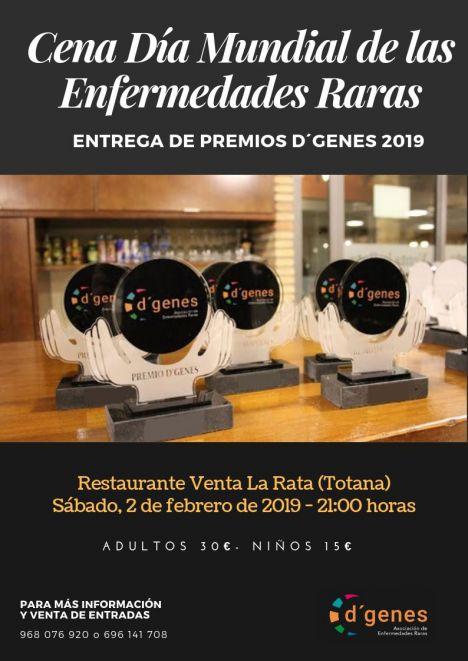 D'Genes entregará 13 galardones en su Cena Gala del 2 de febrero