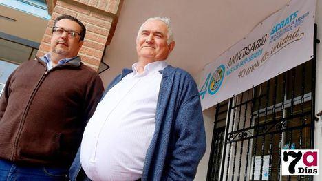 Alfonso Romero y Fulgencio Águila, secretario y presidente, respectivamente, de la Comunidad de Regantes de Alhama de Murcia