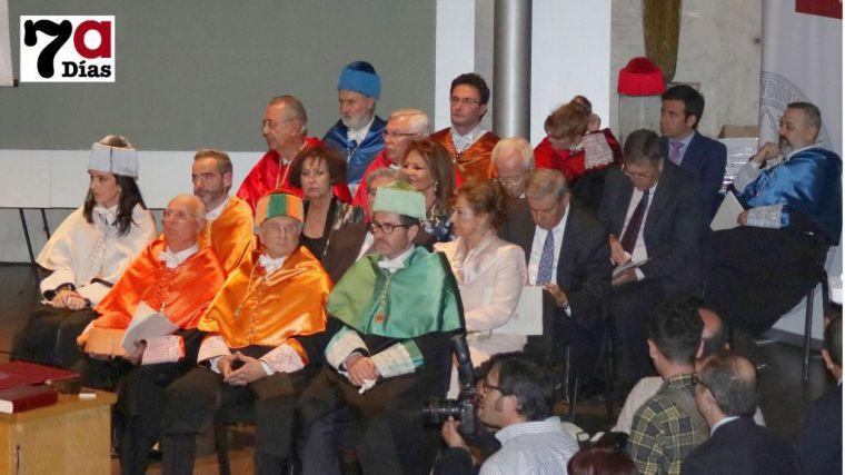 Tomás Fuertes, el día de su doble nombramiento como 'doctor honoris causa'