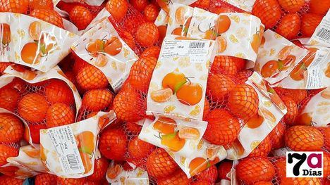 Mandarinas de la variedad Nardorcott, en un establecimiento comercial de Alhama