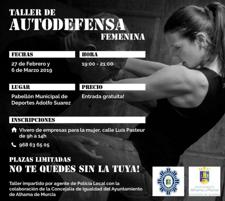 Curso de autodefensa femenina impartido por un policía local