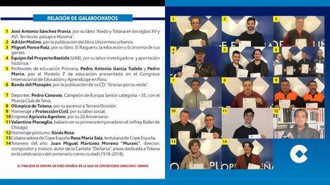 La II Gala Cope Espuña en Totana ya tiene a sus premiados