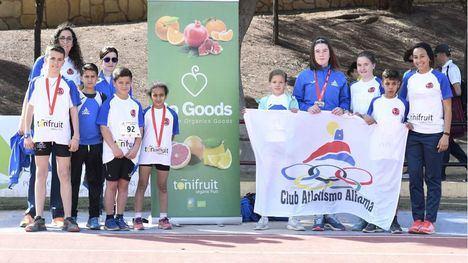 El C. Atletismo Alhama logra 10 medallas en el Campeonato Regional