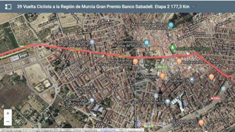 Cortes de tráfico este sábado por la Vuelta Ciclista a la Región