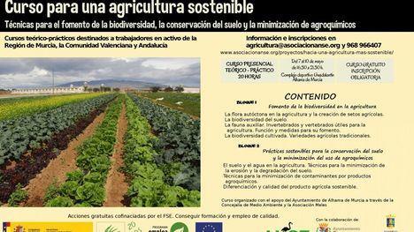 Abierto el plazo para el curso de Agricultura Sostenible en Alhama