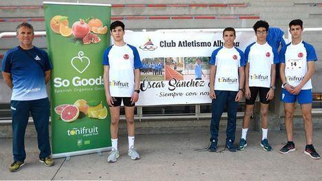 Los atletas Sub18 se traen de Murcia una cosecha de medallas