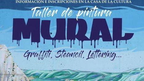Taller de pintura mural para decorar el lateral del pabellón S. Espuña