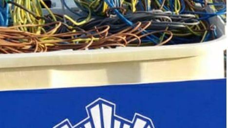 Detenido tras ser sorprendido 'in fraganti' robando cables