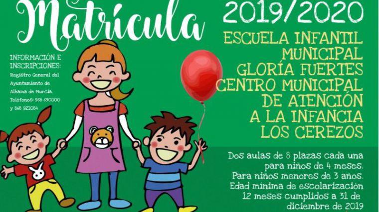 Abierta la matrícula para el CAI Los Cerezos y la E.I. Gloria Fuertes