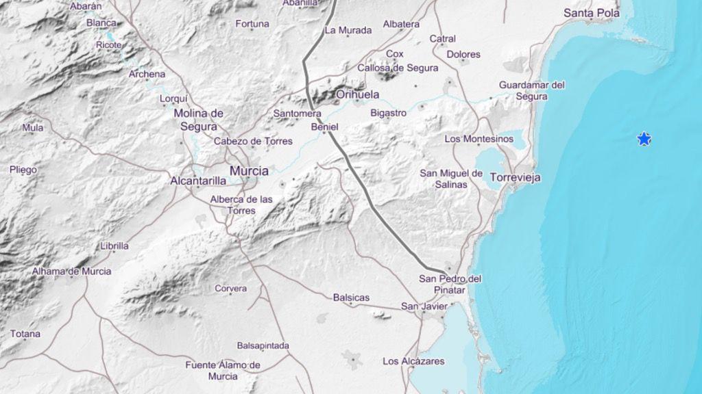La Región siente un terremoto de 4 grados en el Mediterráneo