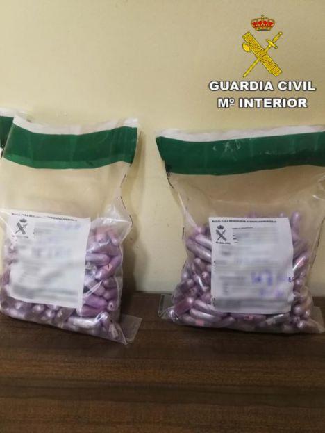 Un vecino de Alhama detenido con 320 bellotas de hachís