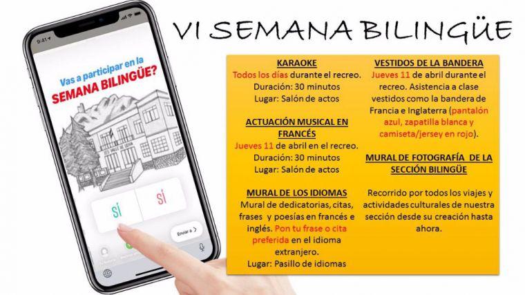Los alumnos del IES Valle de Leiva celebran su VI Semana Bilingüe