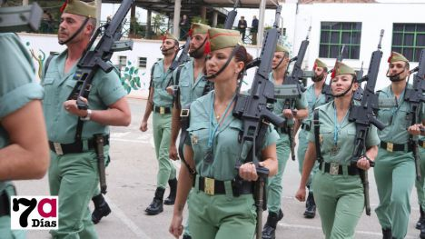 La Legión inicia en Alhama sus desfiles de Semana Santa