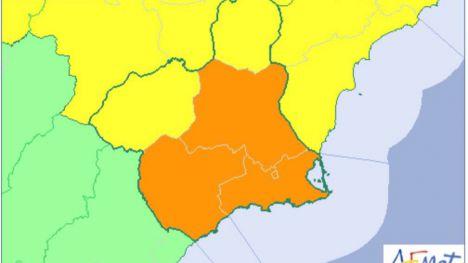 Activada la alerta naranja por lluvias este Viernes y Sábado Santo