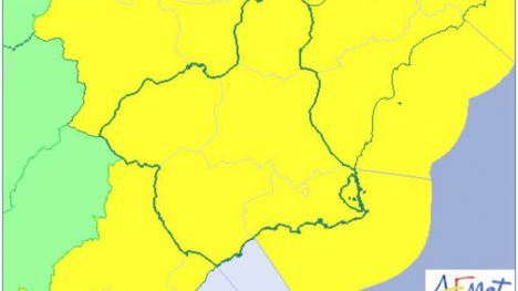 La Aemet baja la alerta a amarillo a causa de las lluvias en la Región