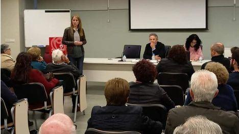 Oñate, senador del PSOE, habla en Alhama de las pensiones