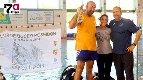 FOTOS El Club de Buceo Poseidón 'bautiza' a cincuenta nadadores