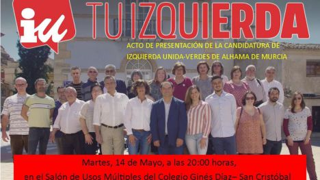 IU-Verdes presenta a sus candidatos en el Ginés Díaz-S. Cristóbal