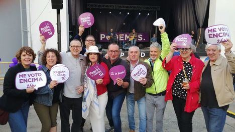 VÍDEO Podemos Alhama celebra el fin de campaña en Murcia