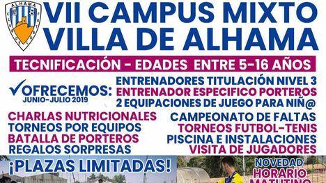 El VII Campus mixto Villa de Alhama ofrece horario matutino