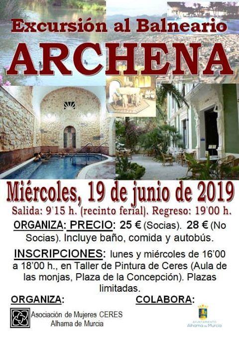 El Balneario de Archena, nueva cita de las mujeres de Ceres