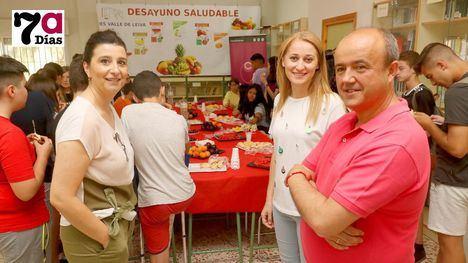 FOTOS Desayuno saludable en el Valle de Leiva para 'ecoalumnos'