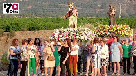 VÍDEO Las mujeres marcan el ritmo en la procesión del Cañarico