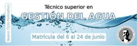 El lunes, fin del plazo de inscripción en Técnico S. en Gestión del Agua