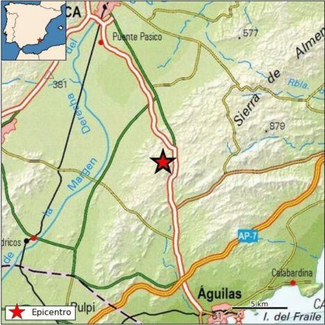 Movimiento sísmico de magnitud 3,8, en Puerto Lumbreras