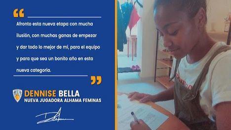 Segundo fichaje del Alhama Femenino: Dennise Bella